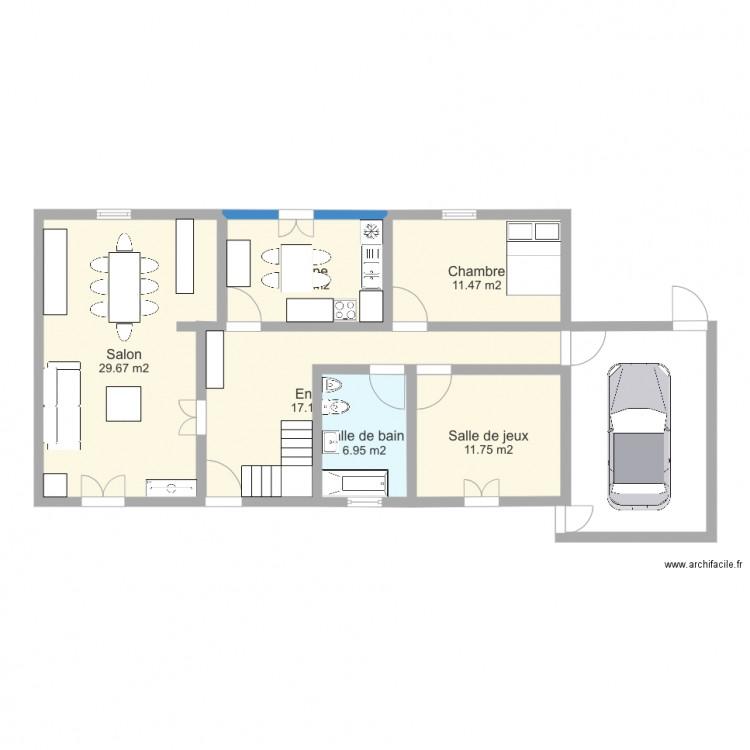 Maison 2 Plan 6 Pi Ces 88 M2 Dessin Par Evenn1604