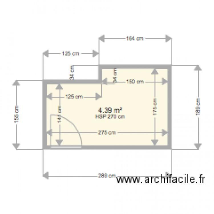 Salle de bain fontenay versailles plan 1 pi ce 4 m2 for Salle de bain 4 m2