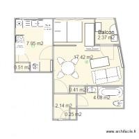 Plan maison et appartement de 8 pi ces de 20 50 m2 for Cuisine ouverte erp