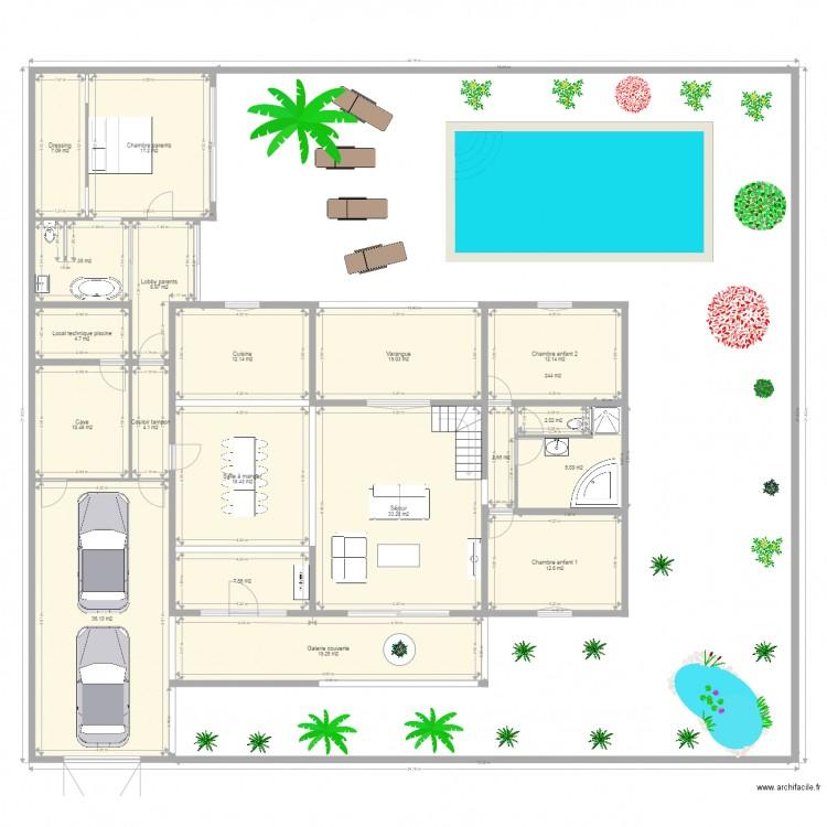 Maison Creole Transformee Plan 23 Pi Ces 543 M2 Dessin