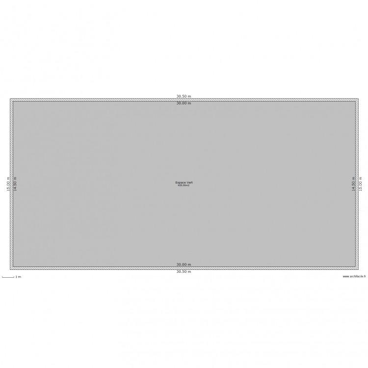 Espace vert plan 1 pi ce 435 m2 dessin par crypoxid for Prix espace vert m2