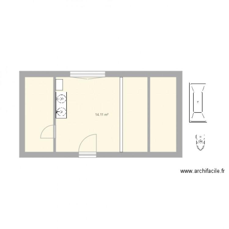 Nouvelle Salle De Bain Plan 3 Pi Ces 23 M2 Dessin Par