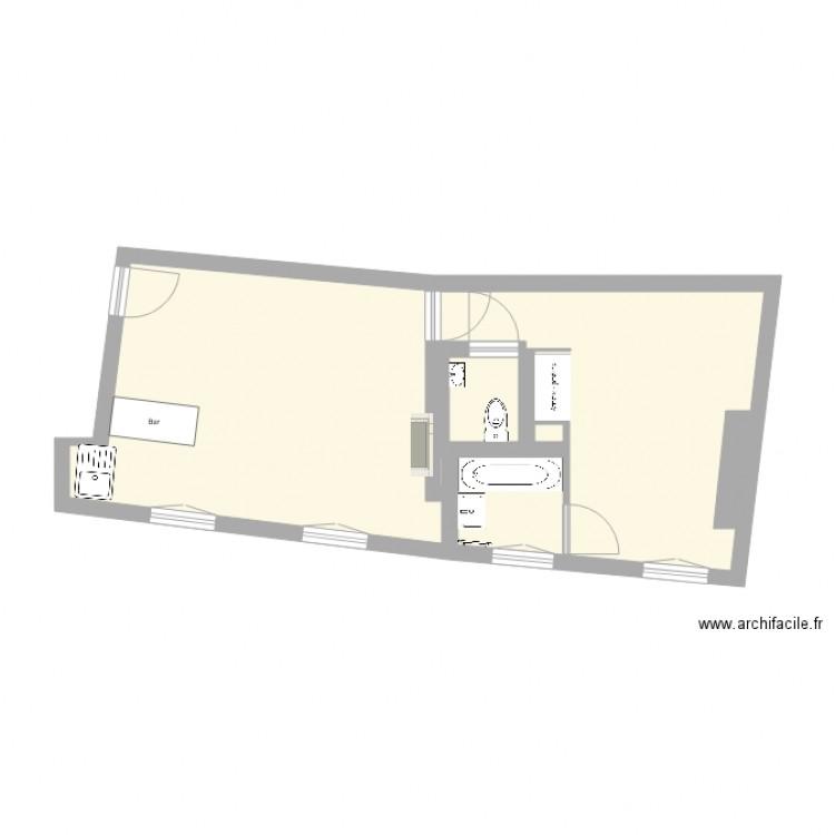 Appart paris plan 8 pi ces 39 m2 dessin par arnosib for Appart meuble paris