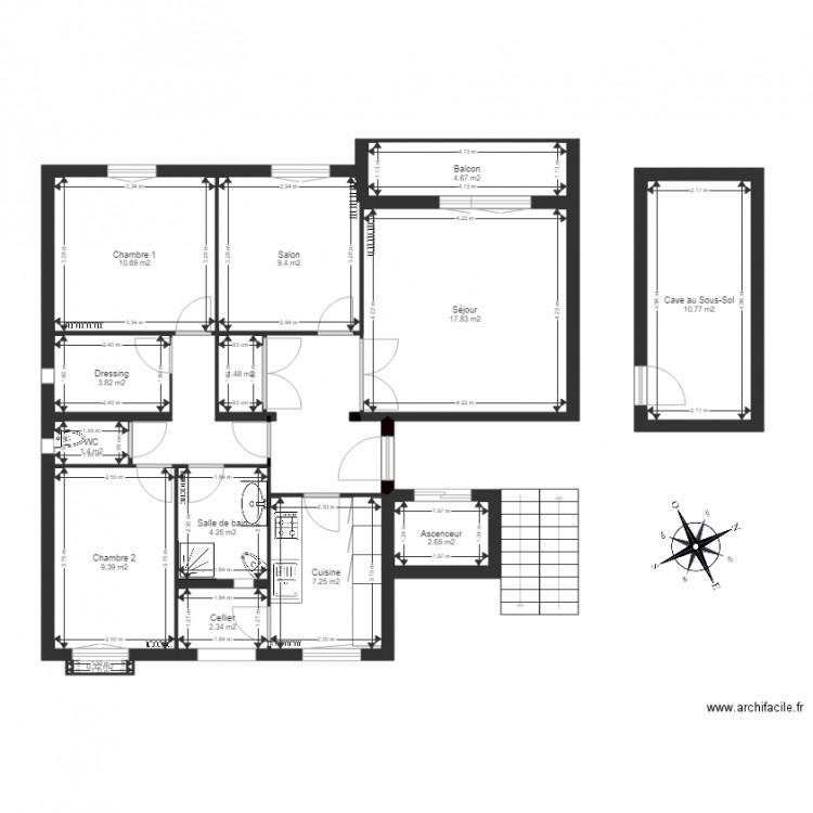 plan appartement 86 m2