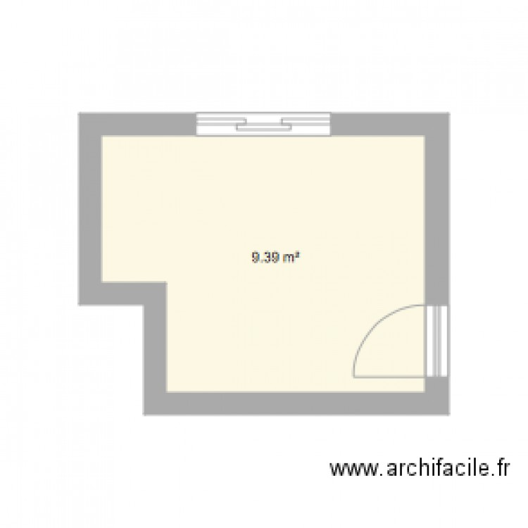 cuisine plan 1 pi ce 9 m2 dessin par ccguidez. Black Bedroom Furniture Sets. Home Design Ideas