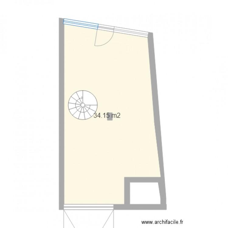 Buro vvd st peray plan 2 pi ces 37 m2 dessin par vigie for Buro en ligne