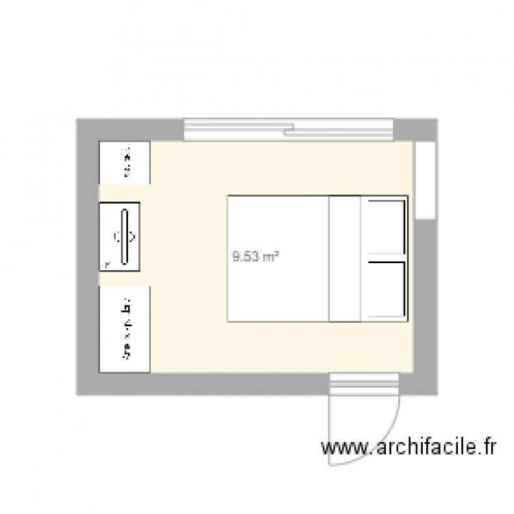 Chambre plan 1 pi ce 10 m2 dessin par patoblivion for Chambre one piece