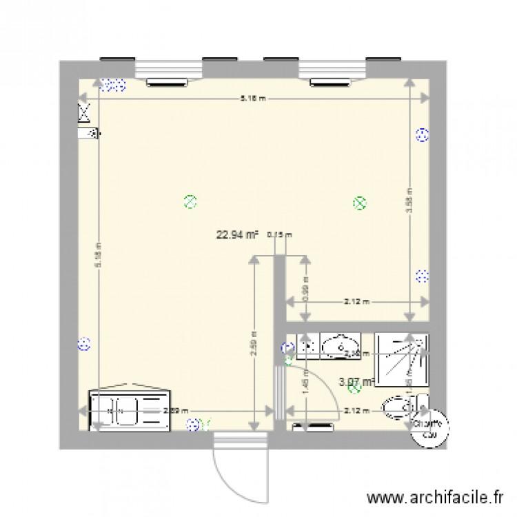 Plan De Masse Plan 2 Pi Ces 26 M2 Dessin Par Gaetan4500