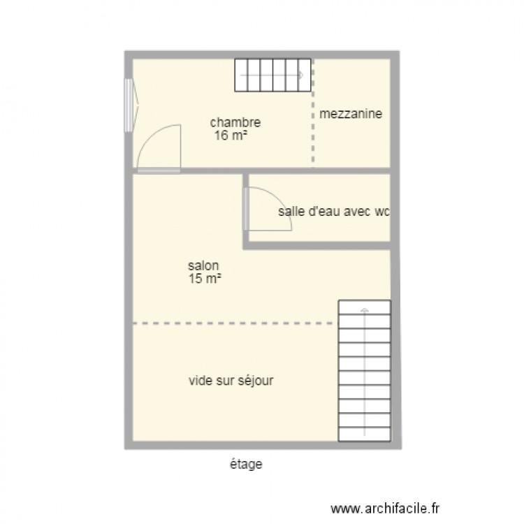 87g2050 plan 7 pi ces 65 m2 dessin par isabelle for Plan 65
