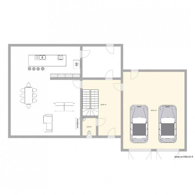 Plan Maison Plan 3 Pi Ces 78 M2 Dessin Par Mvilain