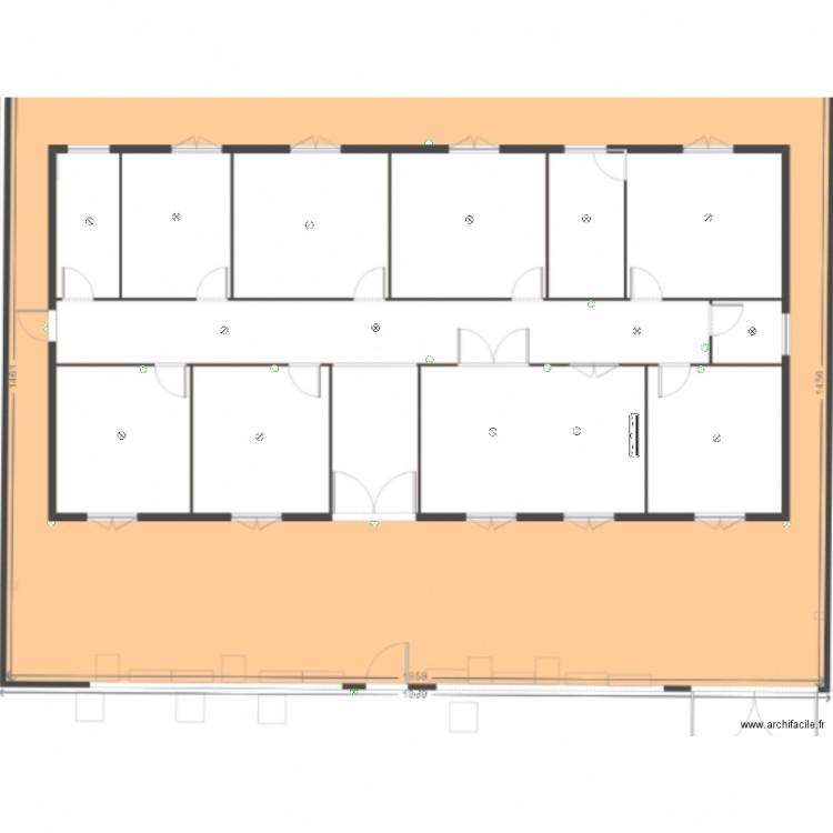 Plan electrique plan dessin par sacoura - Consommation electrique moyenne maison 140 m2 ...