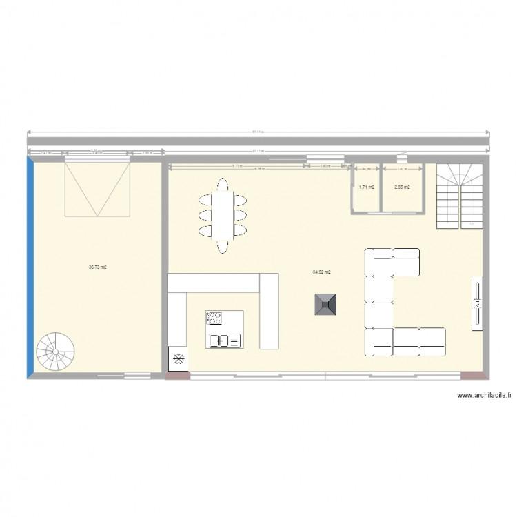 Maison plan 4 pi ces 126 m2 dessin par fab51340 - Consommation electrique moyenne maison 140 m2 ...