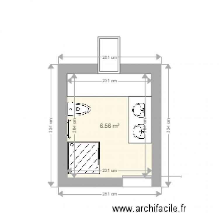 Salle De Bain Plan 1 Pi Ce 7 M2 Dessin Par Go1606