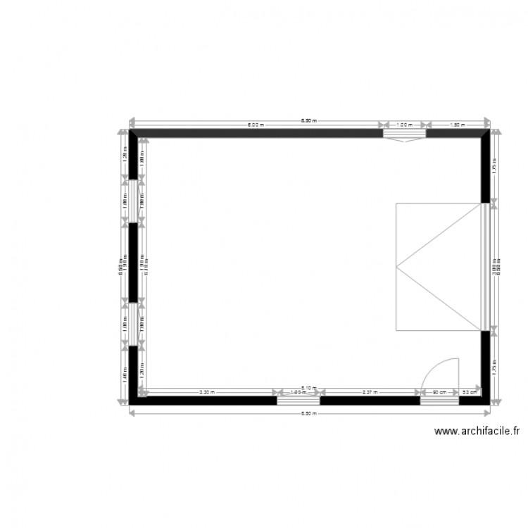 Garage Camping Car Plan 1 Piece 49 M2 Dessine Par Sylvette