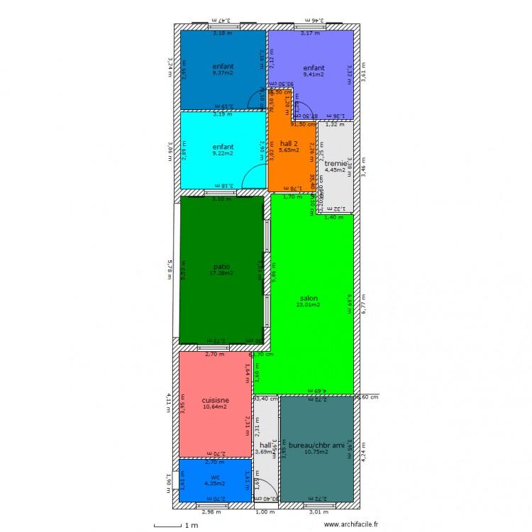 plan de maison 6 metres de facade