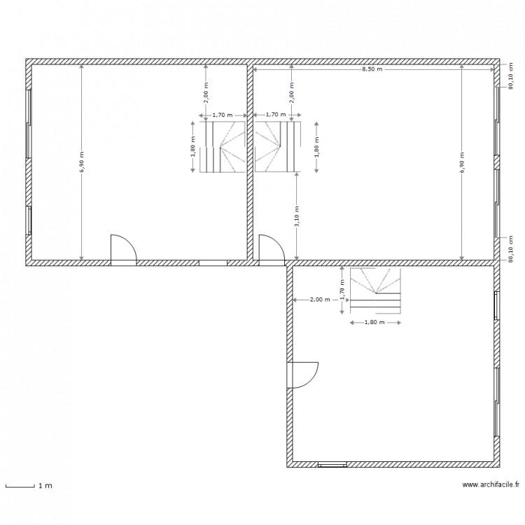 rdc mur porteur et tremi 17 04 2014 plan 3 pi ces 160 m2 dessin par huynhcong. Black Bedroom Furniture Sets. Home Design Ideas