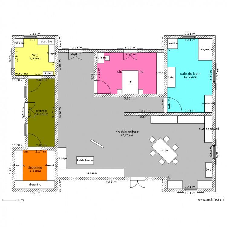 La Maison De Mes Reve 1er Etage Pauline Plan 6 Pieces 140 M2 Dessine Par Pauline Nabonne