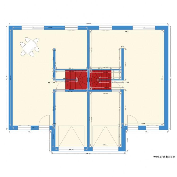 Maison plan 2 pi ces 134 m2 dessin par soliger - Consommation electrique moyenne maison 140 m2 ...