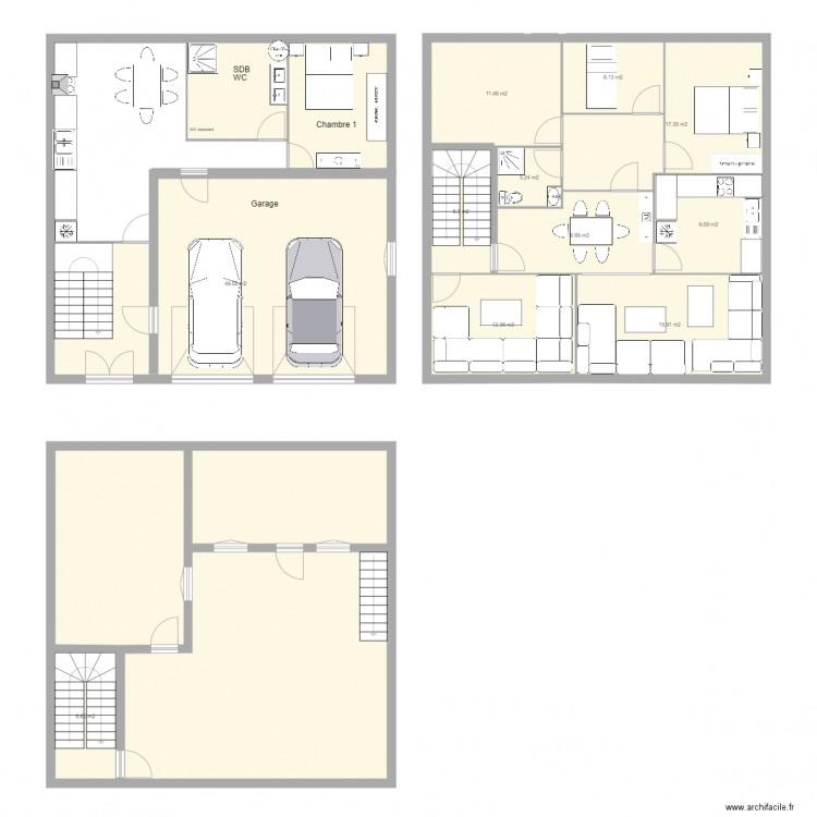 maison de mnoud plan 16 pi ces 250 m2 dessin par djamel1978
