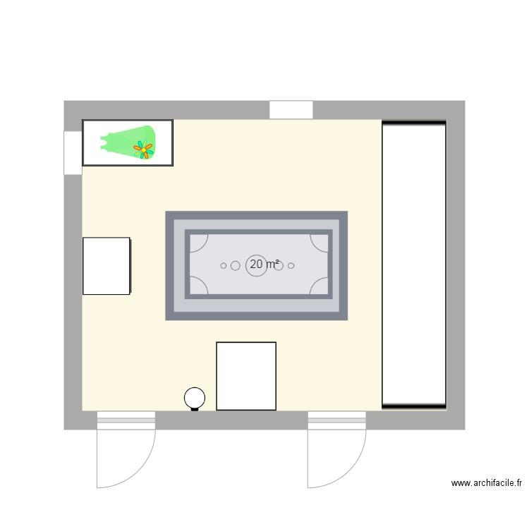 Chambre Bebe Plan 1 Piece 20 M2 Dessine Par Marinecoune