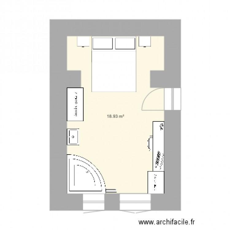Chambre parentale 4 plan 1 pi ce 19 m2 dessin par manue82 for Taille chambre parentale