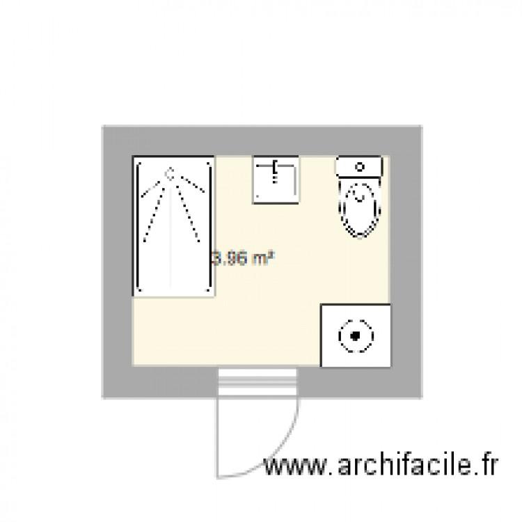 Salle de bain meulon plan 1 pi ce 4 m2 dessin par alkore for Salle de bain 4 m2