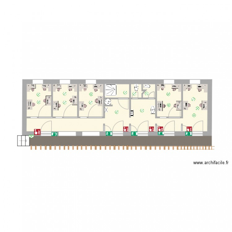 alg co plan 4 pi ces 26 m2 dessin par itsapec. Black Bedroom Furniture Sets. Home Design Ideas