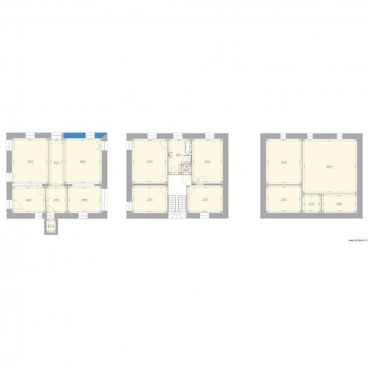 rez de chauss plan 18 pi ces 223 m2 dessin par bmarsille. Black Bedroom Furniture Sets. Home Design Ideas