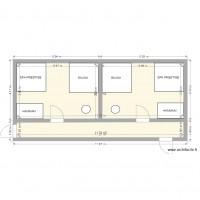 Plan maison et appartement de 2 pi ces de 51 55 m2 - Plan de maison 2 pieces ...