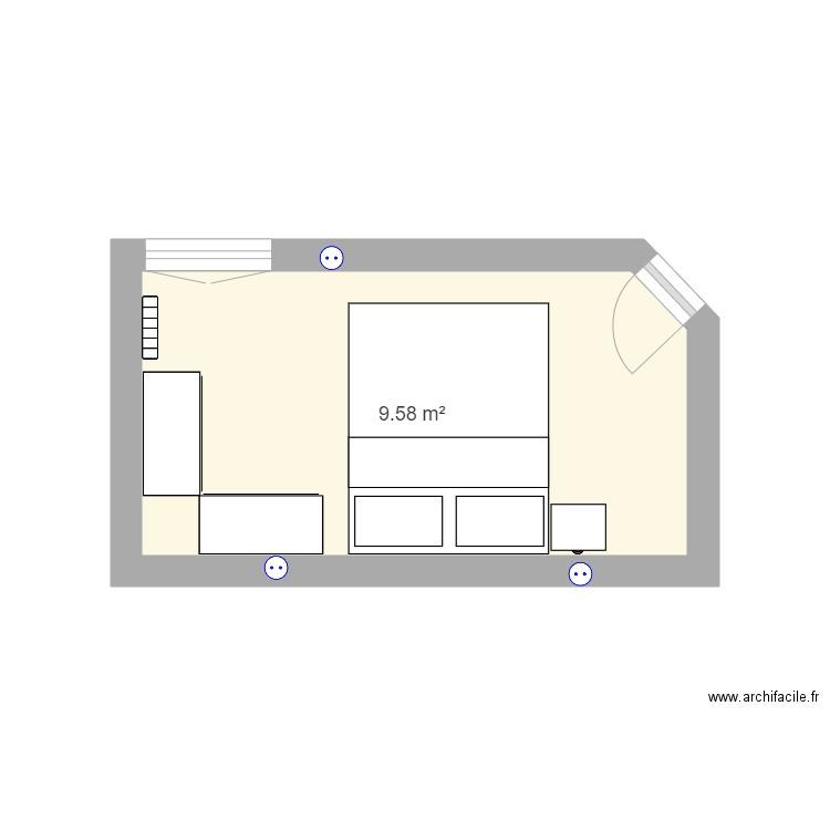 plan chambre maman plan 1 pi ce 10 m2 dessin par marioncalpe2a. Black Bedroom Furniture Sets. Home Design Ideas