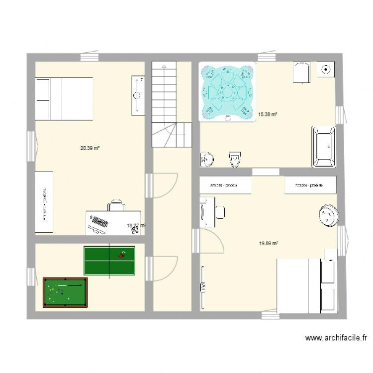 Maison Bioclimatique Gresset Etage Plan 4 Pieces 74 M2 Dessine Par Nicolas57380