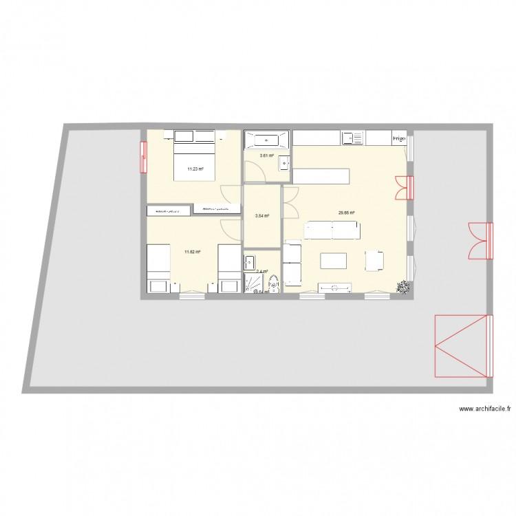 Plan2 plan 7 pi ces 162 m2 dessin par kamkaz75 for 162 plan