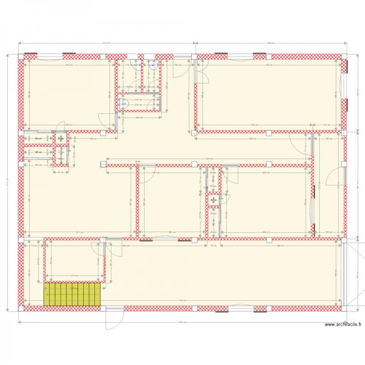 Maison bh rc plan 15 pi ces 222 m2 dessin par bzhab - Consommation electrique moyenne maison 140 m2 ...