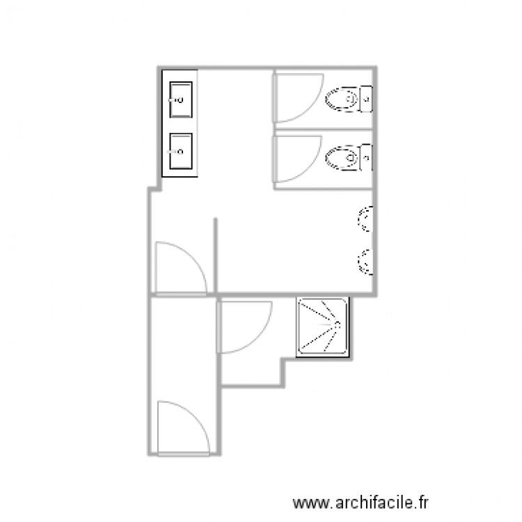 Salle de bain homme plan 4 pi ces 15 m2 dessin par roco008 for Salle de bain homme