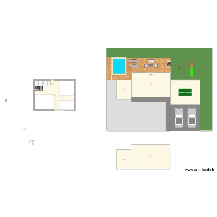 Maison Rectangle Rez Plan 2 Pi Ces 92 M2 Dessin Par Djfab23