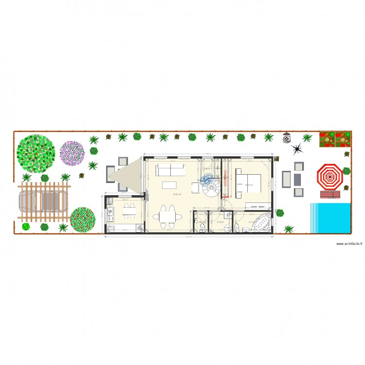 Maison container 4 plan 15 pi ces 122 m2 dessin par for Maison container 50 m2