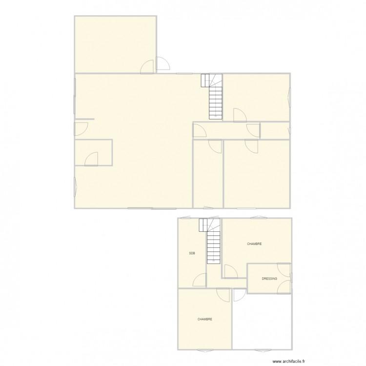 Maison bis plan 12 pi ces 177 m2 dessin par vseranne for Taille moyenne maison