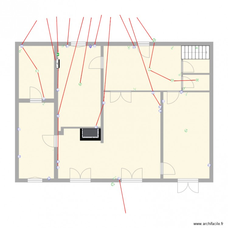 maison rez de chauss plan 8 pi ces 108 m2 dessin par jeromechevalier. Black Bedroom Furniture Sets. Home Design Ideas
