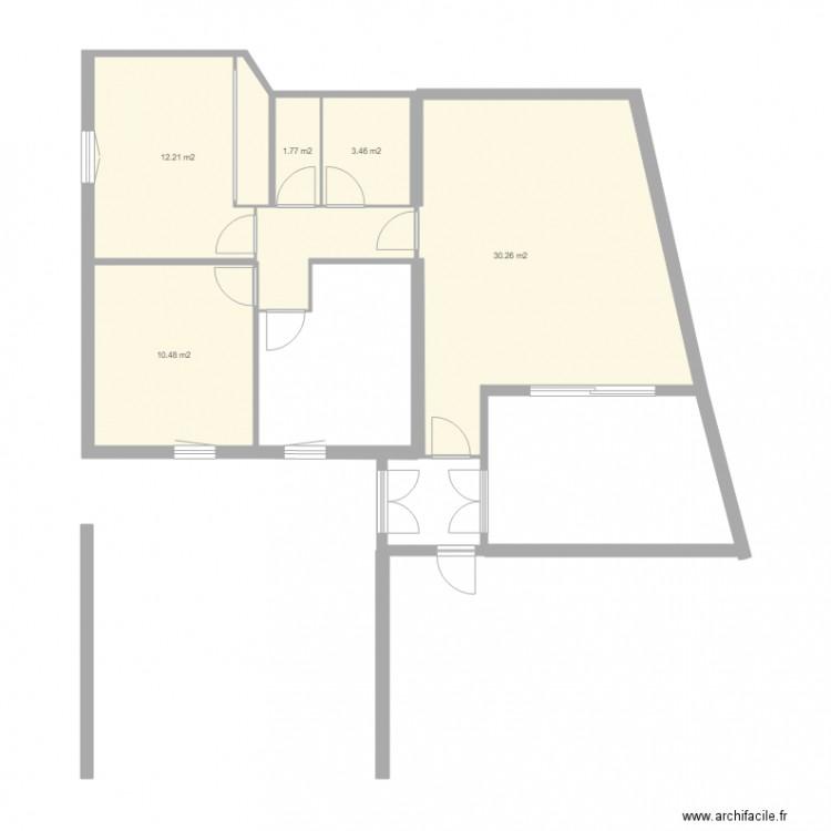 78 alli s 02 plan 5 pi ces 58 m2 dessin par mtrec06. Black Bedroom Furniture Sets. Home Design Ideas