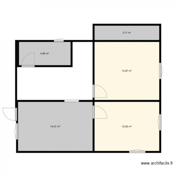 Maison plan 5 pi ces 51 m2 dessin par marko68 for Plan de maison 5 pieces
