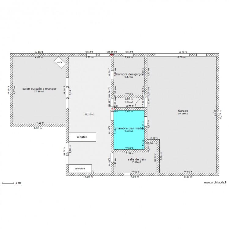 Ma maison avec garage et rallonge plan 7 pi ces 154 m2 - Dessiner ma maison en ligne ...