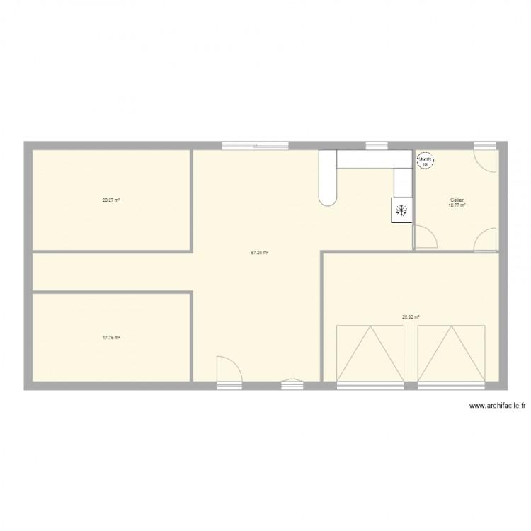 Maison plan 5 pi ces 135 m2 dessin par soomip for Plan de maison 5 pieces