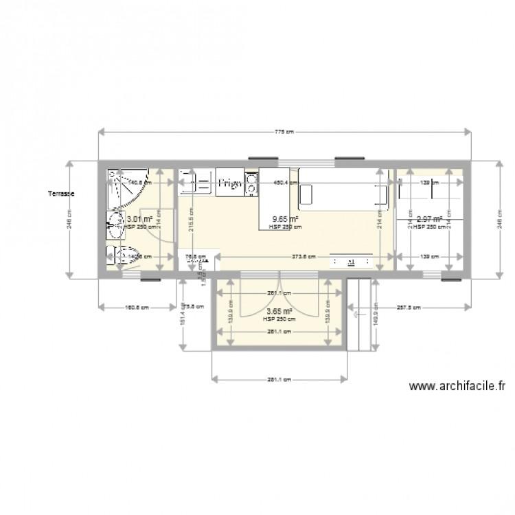 Modele 770 plan 4 pi ces 19 m2 dessin par antonia123 for 770 plan