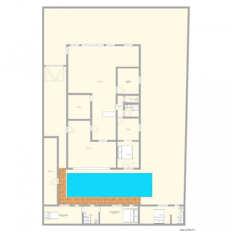 Maisons plan 15 pi ces 521 m2 dessin par timanielle for 521 plan