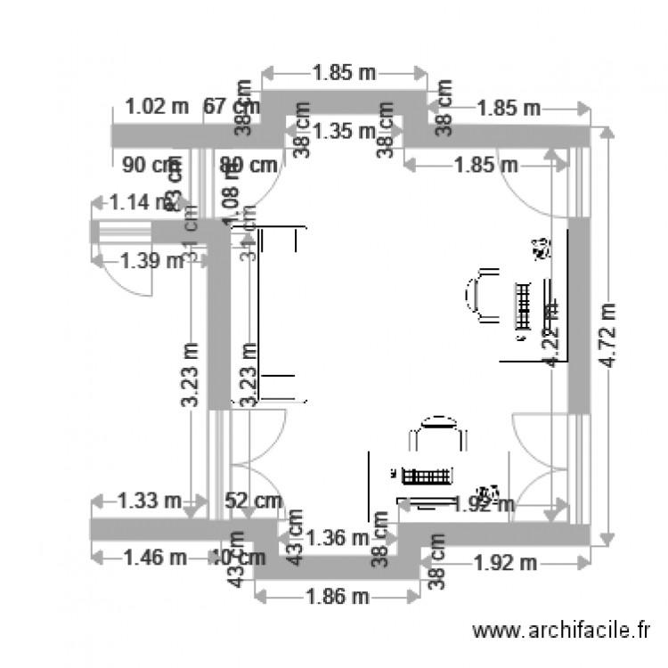 Bureau plan dessin par jp fontaine for Nombre de m2 par personne bureau