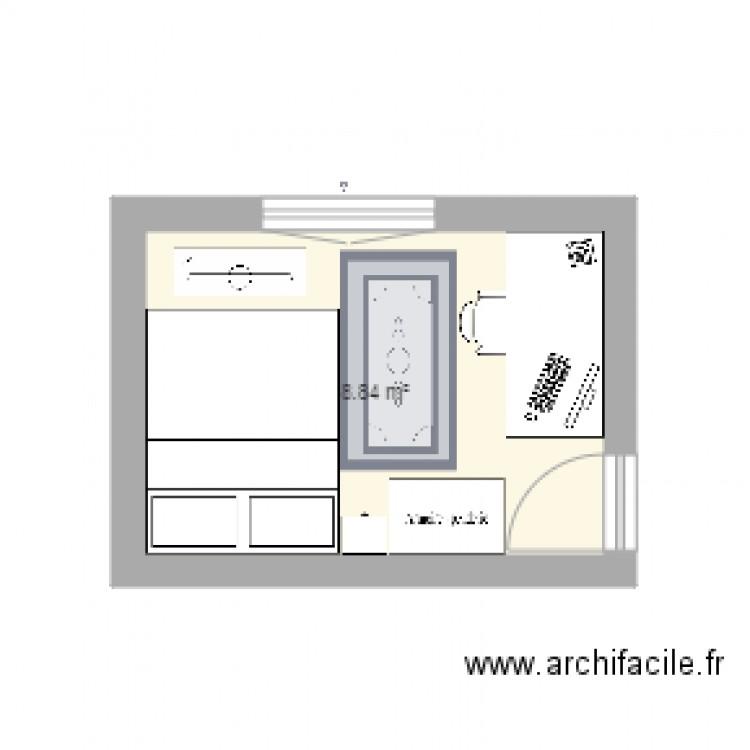 Chambre plan 1 pi ce 9 m2 dessin par dylan78 for Chambre 9 m2 minimum