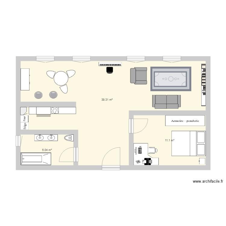 plan appartement rectangulaire