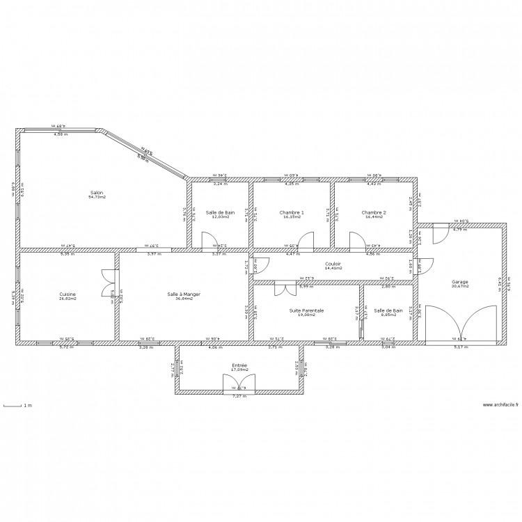 Maison f5 bis plan 11 pi ces 253 m2 dessin par jahliam for Plan de maison f5