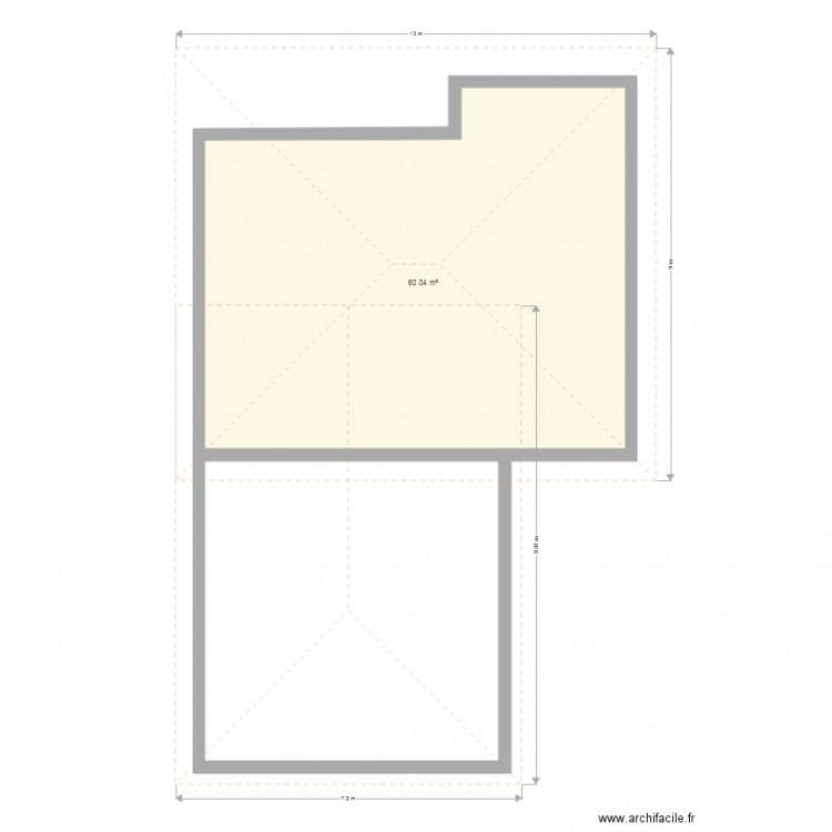 maison plan 1 pi ce 60 m2 dessin par sebastiendejours. Black Bedroom Furniture Sets. Home Design Ideas