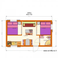 MIRA 6 Bungalow  400x700 plan 2